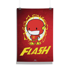 DC Comics-Little Flash Wall Décor Poster | Poster for Home | Poster for Office |[ Frame Not Included ] Size A3 [12 x 18 inchs ]