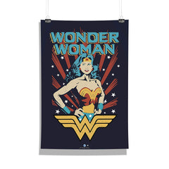 DC Comics-Wonder Women Comic  Wall Décor Poster | Poster for Home | Poster for Office |[ Frame Not Included ] Size A3 [12 x 18 inchs ]