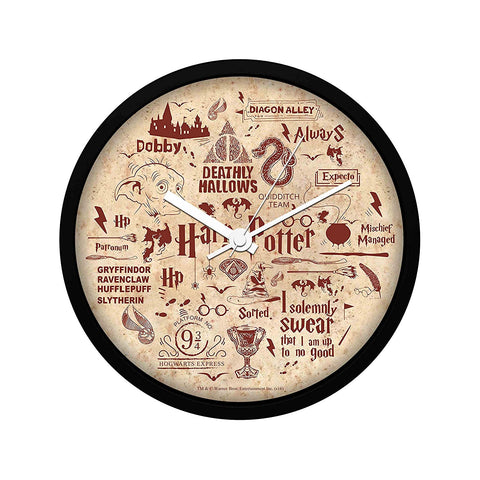 Harry Potter Red Infographic Wall Clock