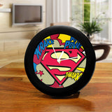 DC Comics Superman Comic Logo Table Clock