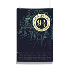 "Harry Potter-""9 3/4 Station"" Wall Poster Calendar for Living Room,Office [ Frame Not Included ] Size A3 [12 x 18 inches ]"