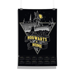 "Harry Potter-""Hogwarts is Home"" Wall Poster Calendar for Living Room,Office [ Frame Not Included ] Size A3 [12 x 18 inches ]"