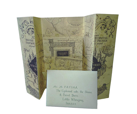Harry Potter Hogwarts Acceptance Letter and Marauders Map (Mini)