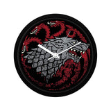 Redwolf Game of Thrones Fire Blood & Ice Wall Clock
