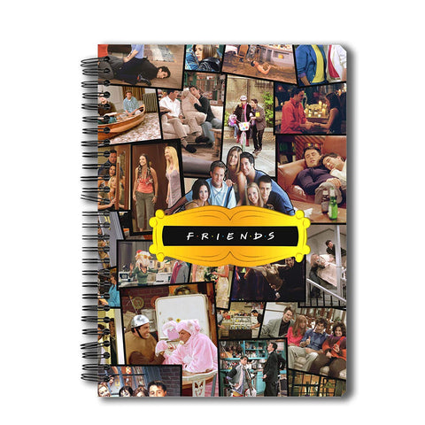 Friends Tv Series Collage A5 Size Notebook