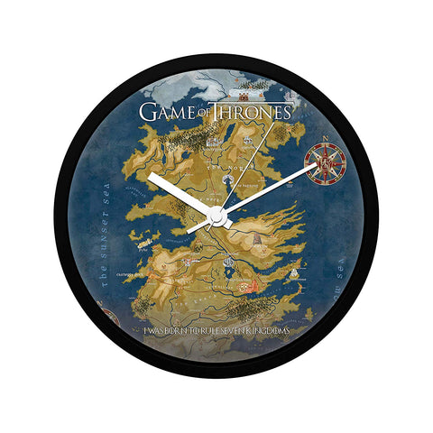 Game of Thrones Cersei Map Wall Clock