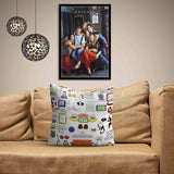 Friends TV Series Doodle Satin Cushion Cover