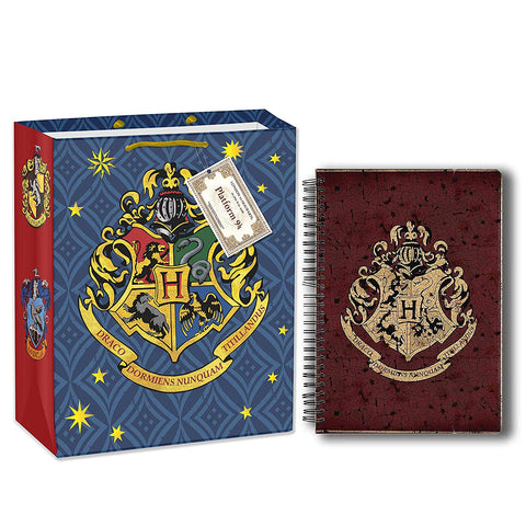Harry Potter Hogwarts House Crest (A5 Notebook+Gift Bag)