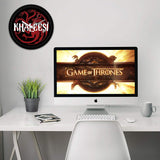Redwolf Game of Thrones Khaleesi Wall Clock