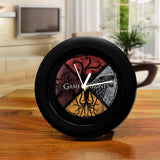 Redwolf Game of Thrones Table Clock of Circular House