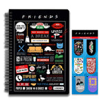 Friends TV Series Combo Pack of 2 Infographic Notebook and Magnetic Bookmarks