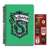 Harry Potter Combo Pack of 2 Slytherin Notebook and Magnetic Bookmarks