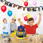 DC Comics Characters Birthday Party Banner