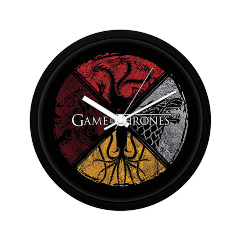 Game of Thrones Cirlular House Wall Clock