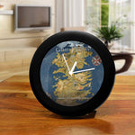 Game of Thrones Cersie Map Table Clock