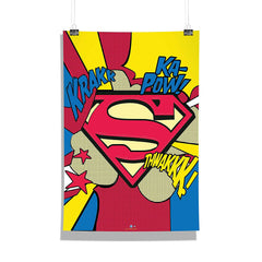 DC Comics-Superman Comic Logo  Wall Décor Poster | Poster for Home | Poster for Office |[ Frame Not Included ] Size A3 [12 x 18 inchs ]