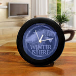 Game of Thrones Stark Winter is Here Table Clock