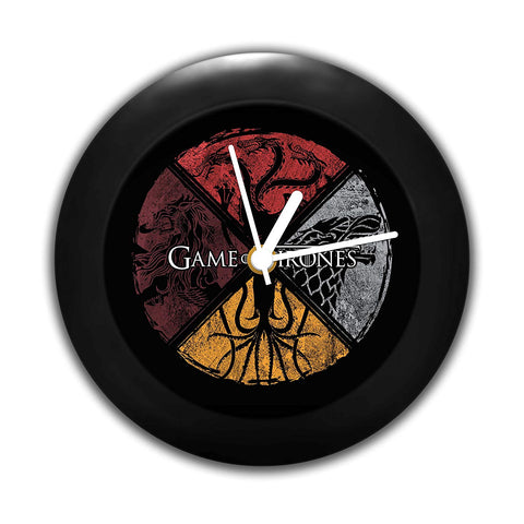 Game of Thrones Table Clock of Circular House