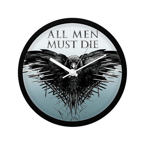 Redwolf Game of Thrones All Men Must Die Wall Clock