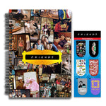 Friends TV Series Combo Pack of 2 Collage Notebook and Magnetic Bookmarks