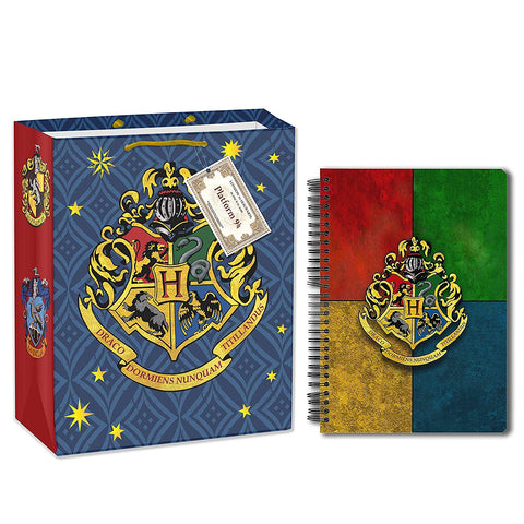 Harry Potter House Crest (A5 Notebook+Gift Bag)
