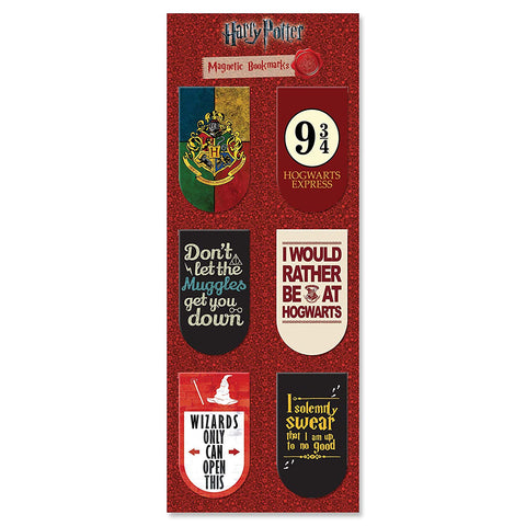 Harry Potter Magnetic Bookmarks (Pack of 6) | Gifts for Readers and Book Lovers