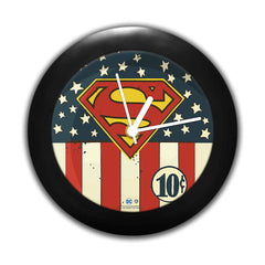 DC Comics -Superman Logo Flag Table Clock Gift Set Birthday Gift