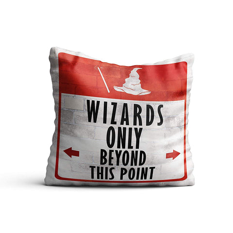 "Harry Potter Wizard Only Cushion with Cover 16"" Inch 
