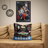 Friends TV Series Quotes Satin Cushion Cover