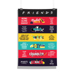 Friends TV Series Characters Poster