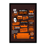 Friends TV Series Infographic Orange Poster