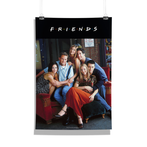 Friends TV Series On The Couch Poster