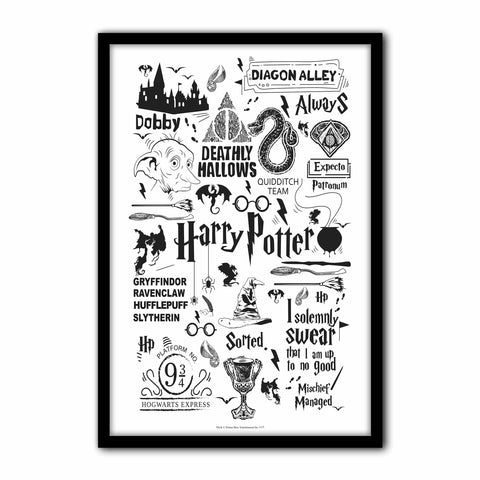Harry Potter Black Wall poster | Wall décor