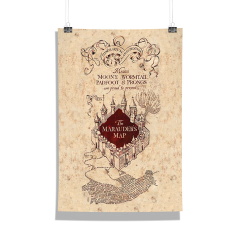 Harry Potter Maruder's Map Poster