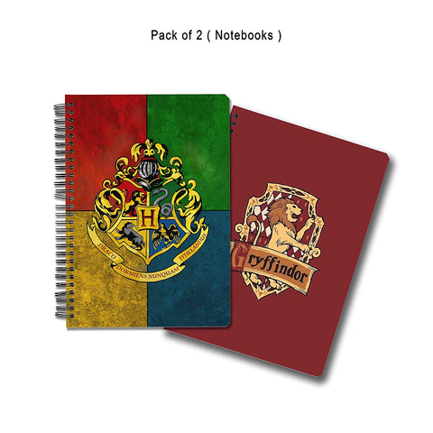 Harry Potter Pack of 2 House Crest 3 Notebook + Gryffindor No. 1 Notebook