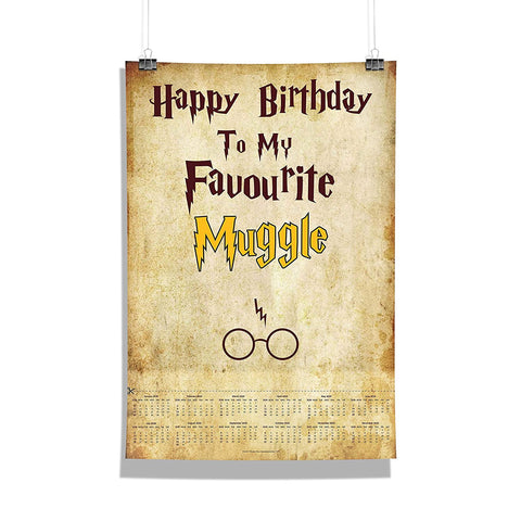 "Harry Potter - ""Favourite Muggle"" Wall Poster Calendar"