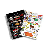 FRIENDS TV Series Pack of 2 (Infographic + Doodle ) A5 Notebook