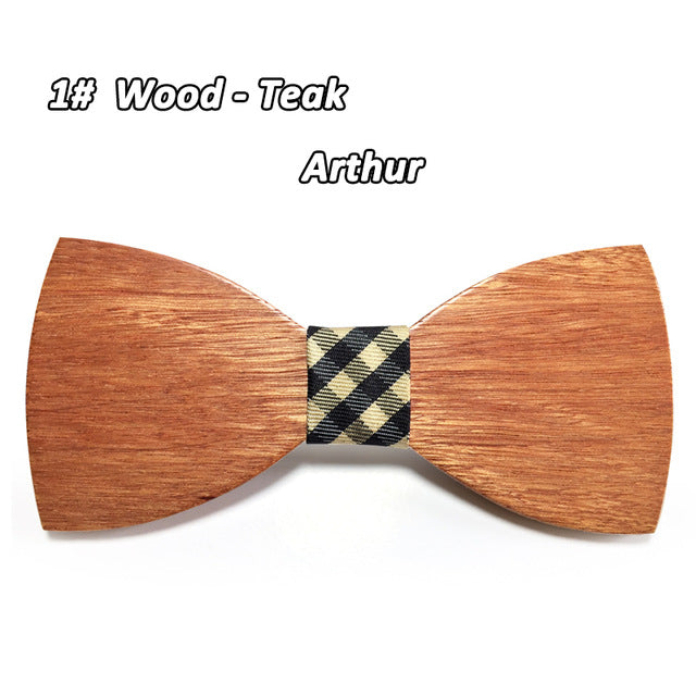 Classy Wooden Bowtie with Pattern