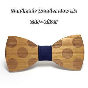 Solid Wooden Bowtie