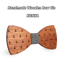 Anchor Pattern Wooden Bowtie