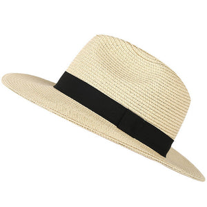 Beach Straw Fedora Hat