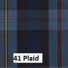 Plaid School Uniform Jumper V-Front Knife Pleats Style 62 Blue/Red/Gold Plaid 41