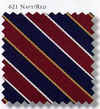 Multi-Stripe Necktie 3.5 Inch X 57 Inch 6-pack 621 Navy/Red