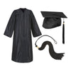 Black Cap Gown And Tassel Matte Finish