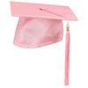 Pink Cap And Tassel Shiny Satin Finish