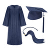 Navy Blue Cap Gown And Tassel Matte Finish