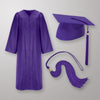 Purple Cap Gown And Tassel Matte Finish