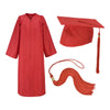 Red Cap Gown And Tassel Matte Finish
