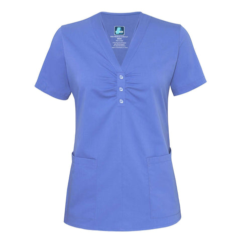 Adar - uniforms Medical Uniform Tops uniforms online Adar Indulgenc Jr. Fit Scarf Neck Top - SchoolUniforms.com