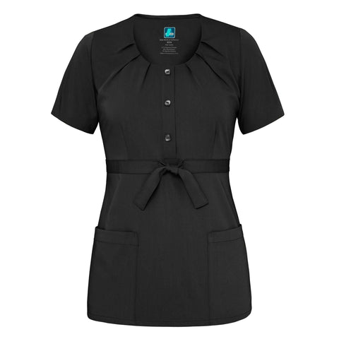 Adar - uniforms Medical Uniform Tops uniforms online Adar Indulgenc Jr. Fit Scoop Neck Pleated Top - SchoolUniforms.com